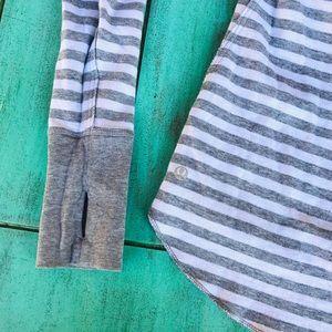 Lululemon Athletica striped reversible longsleeve